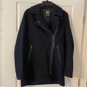 Gap navy moto pea coat
